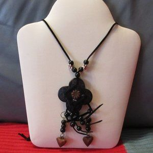 Wooden Fashion Necklace with Earrings